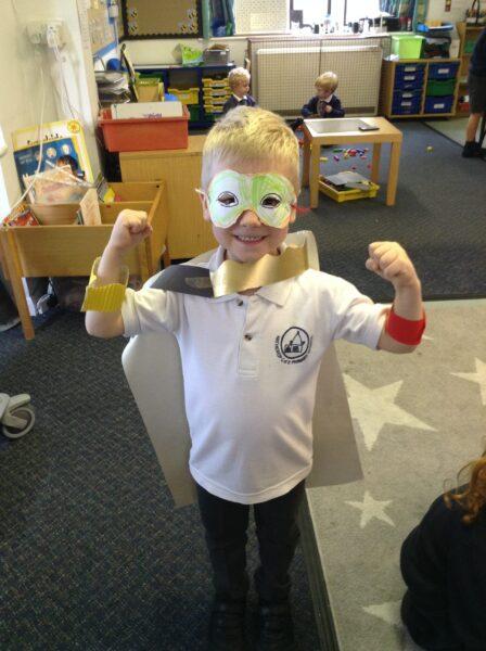 We made superhero masks